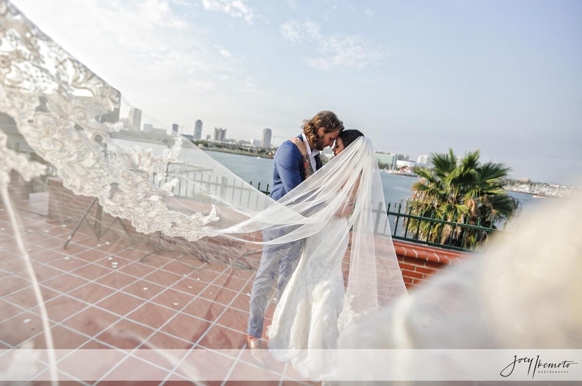 The Reef Long Beach Wedding Adam Cecilia