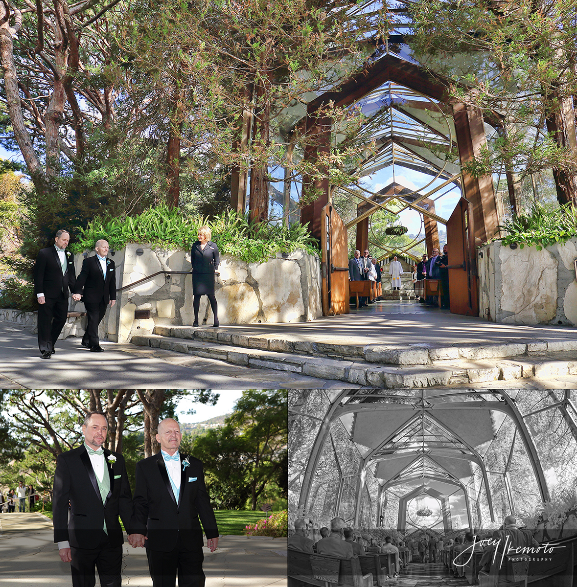 Wayfarers Chapel And Long Beach Marriott Wedding 0010 Blog Collage